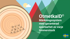 Film om OtmetkaID som är ett märkningssystem med garanterad och automatisk spårbarhet av timmer.