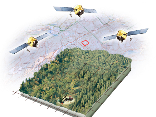 Using latest GNSS technology, the harvester determines the basic information in the OtmetkaID, including time and position for each tree, as well as tree characteristics data.